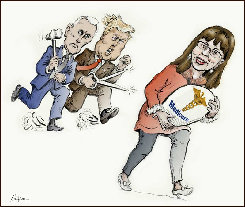 Laurie runs away with Medicare with Trump and Pence n close pursuit